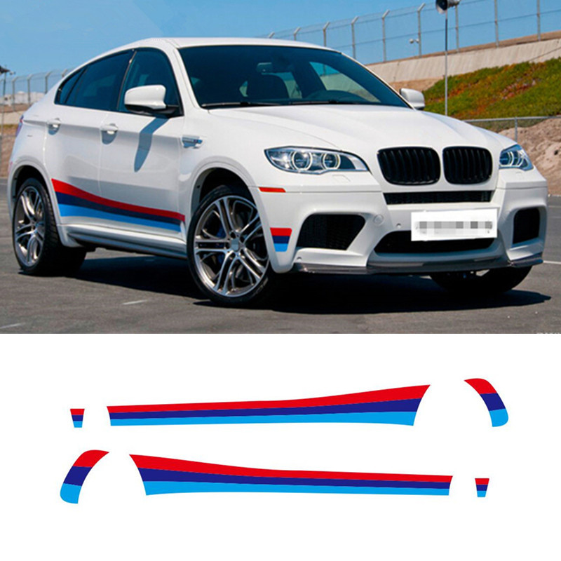 Car Sport Styling Door Side Skirts Decal Waist Line Stickers For BMW X5 F15 X6 F16