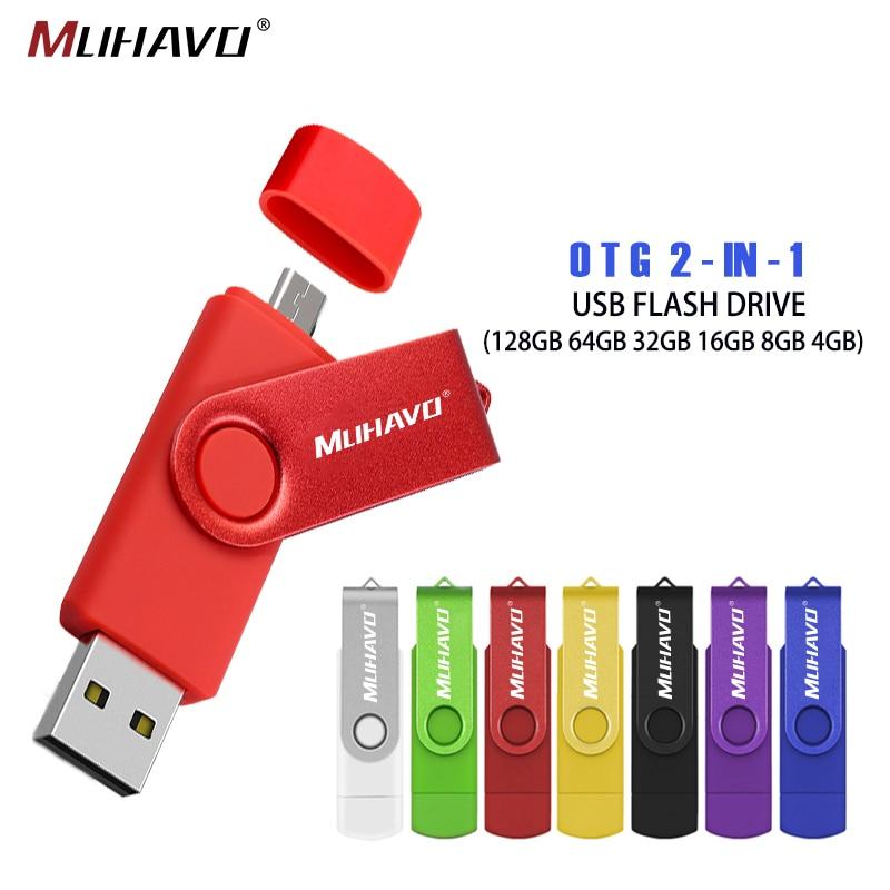 High Speed OTG Cle Usb Flash Drive 128 GB 32 GB 2.0 Pen Drive 64GB 16GB Flash Drive 8GB 4GB USB Stick PenDrive External Storage