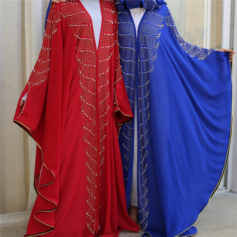 Super Size New Style African Women's Dashiki Fashion Hot Drill Beads Lengthened Cape Hooded Cape Long Dress 2020