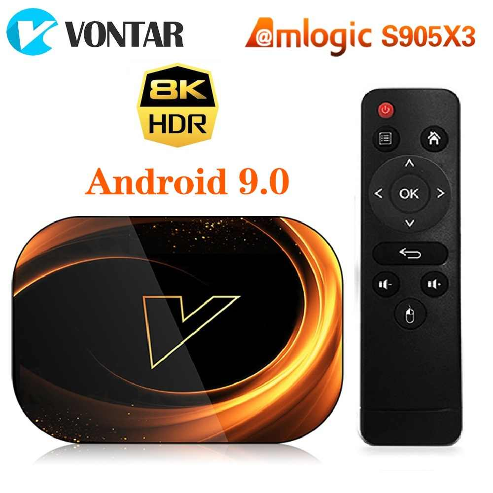VONTAR X3 8K Amlogic S905X3 4GB RAM 64GB TV Box Android 9.0 décodeur 1000M double Wifi 4K Youtube Netflix Smart TV Box 4G 32G