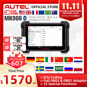 Image 1 - Autel MaxiCOM MK908 OBD2 Scanner Car Diagnostic Tool OBDII OE level Bi directional Control key programmer Code Reader PK MK808