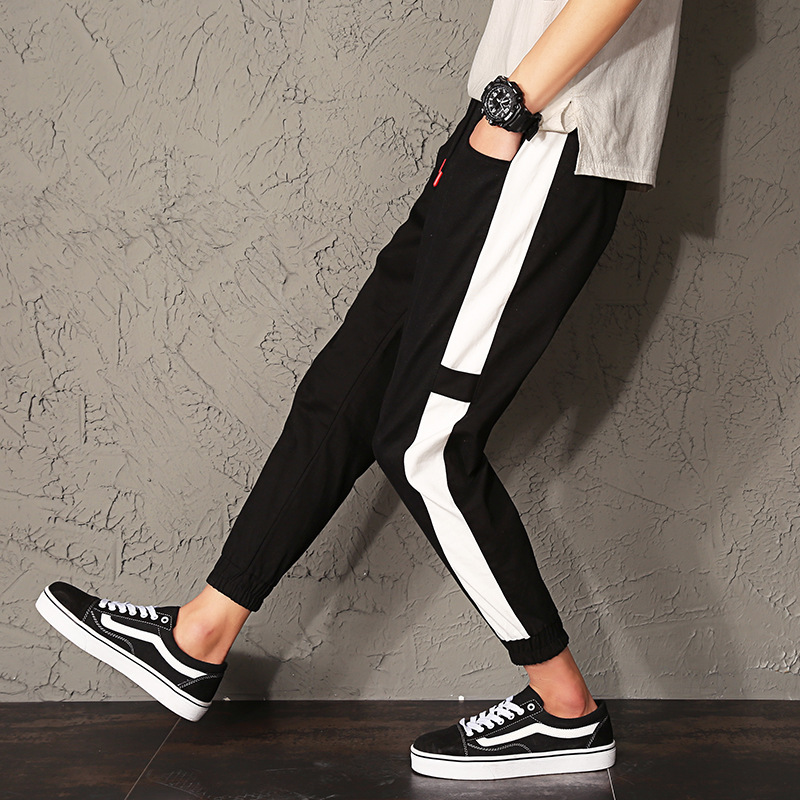 2019 Spring Casual Pants Men Slim Fit Teenager Students Korean-style Capri Skinny Pants Men'S Wear