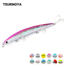 TSURINOYA NEW Minnow 낚시 미끼 DW72 125mm 14.3g 얕은 범위 떠 다니는 물 Minnow Jerkbait Wobblers Sea Bass Lure Swimbait(China)