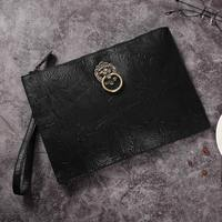 New Chinese style handbag with lion's head, lotus pattern, tattoo envelope, large capacity handbag