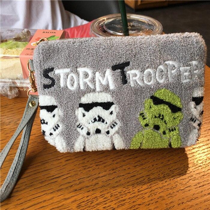 Image 3 - Fashion Cartoon Star Wars Darth Vader Stormtrooper Clutch Makeup Bag Pouch Women Messenger Bag Sling Crossbody BagsTop-Handle Bags   -