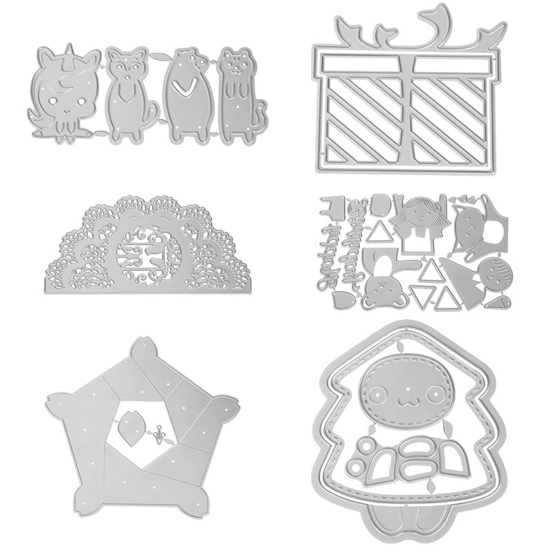 Cute Bear Lace Edge Border Metal Cutting Dies Stencils For DIY Scrapbooking Decoration Embossing Supplier Handcraft Die Cut 2019