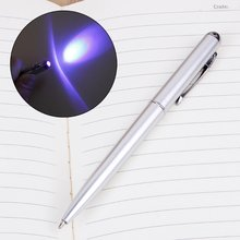 Творческий Магия Светодиодный uv светильник шариковая ручка