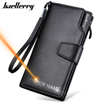 2020 Card Holder Men Wallets Business PU Leather Long Design Quality Fashion Casual Men Purse Zipper Multi-function Wallets