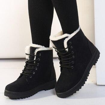 Женские ботинки; Зимние ботильоны для женщин; Зимняя обувь; Женские зимние ботинки; Botas Mujer; Теплая плюшевая обувь для женщин; Большие размеры 44