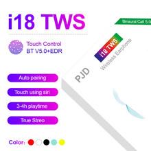 Wysokiej jakości i18 TWS bezprzewodowe słuchawki ładowania V5 0 słuchawki Bluetooth dla iphone Samsung Xiaomi PK i7S i9s i12 i11 i14 PRO tanie tanio HKNA NONE Dynamiczny CN (pochodzenie) wireless 120dB Wspólna Słuchawkowe Dla Telefonu komórkowego Typ linii Instrukcja obsługi