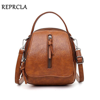 Vintage Soft Leather Shoulder Bags for Women Large Capacity Female Handbag Double Compartment Crossbody Bags Lady Small Tote