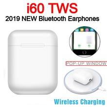 Original i60 TWS 1: 1 Bluetooth 5.0 Wireless 6D heavy bass earphone PK i10 i12 i20 i30 i80 i100 i300 i1000 i2000 i800 i500 tws