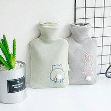 Botella De agua caliente De la cubierta caliente Fluffy paquete pequeño Kawaii botella De agua caliente lindo calefactor De Manos artículos para el hogar BW50RS