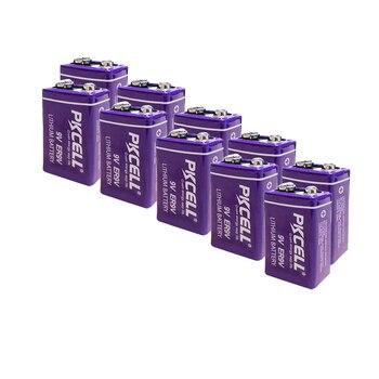 12Pcs PKCELL ER9V 1200mAh 9V Li-SOCl2 Lithium Batteries Bateria For Smoke alarm lithium-ion battery 6LR61 6F22