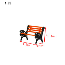 Teraysun 50pcs Model Railway Layout 1:75 Garden bench model Chair G N HO Scale NEW