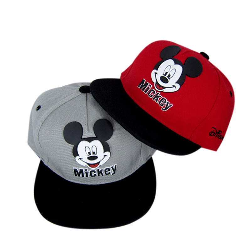 New Mesh Baseball Cap Kids Boys Girls Adjustable Caps Fashion Cartoon Mickey Minnie Children Snapback Hat