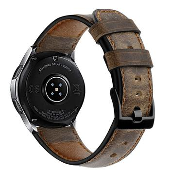 22mm watch band For samsung Galaxy watch 46mm crazy horse leather strap Gear S3 frontier bracelet Huawei watch 2 gt strap 46 mm