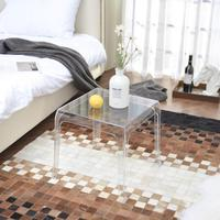 Furgle ghost coffee table Clear transparent morden side table crystal plastic coffee fashion makeup for dinner chair rest room