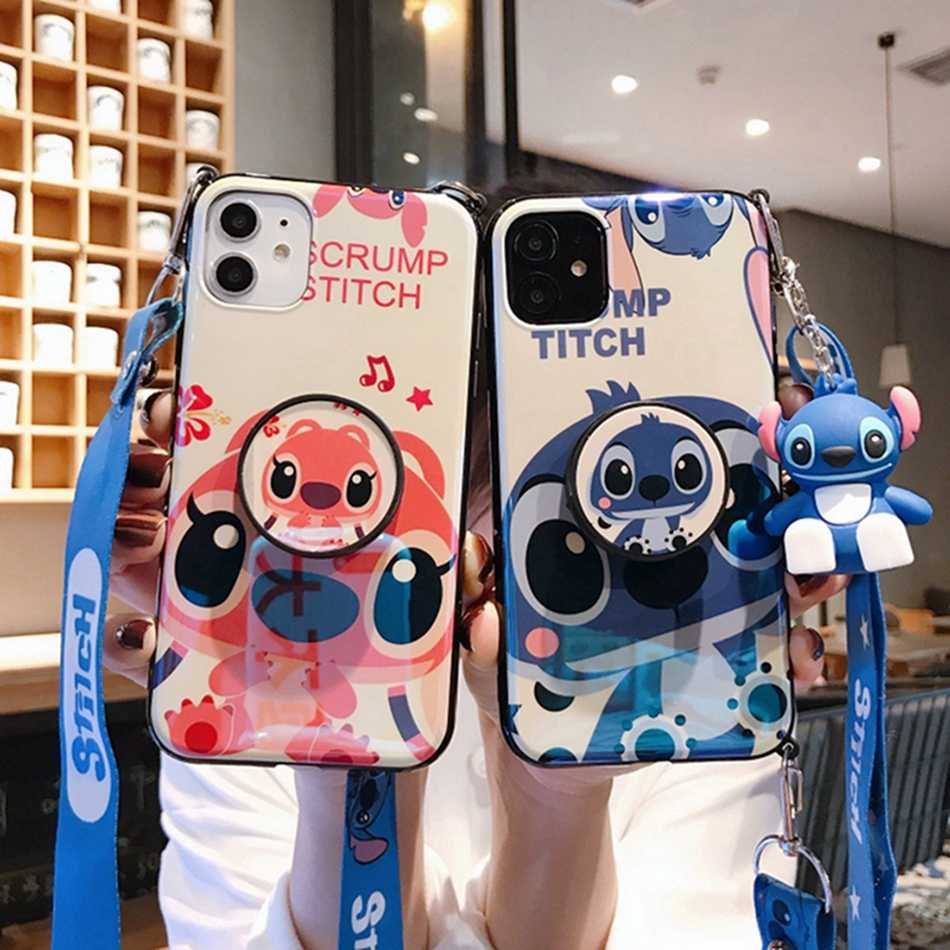 Punto Cassa Del Telefono per Il IPhone 11 Pro Max XR XS Caso Sveglio Della Copertura Del Silicone per Il IPhone 7 8 6s più Cassa Del Telefono Del Fumetto Molle di TPU Funda