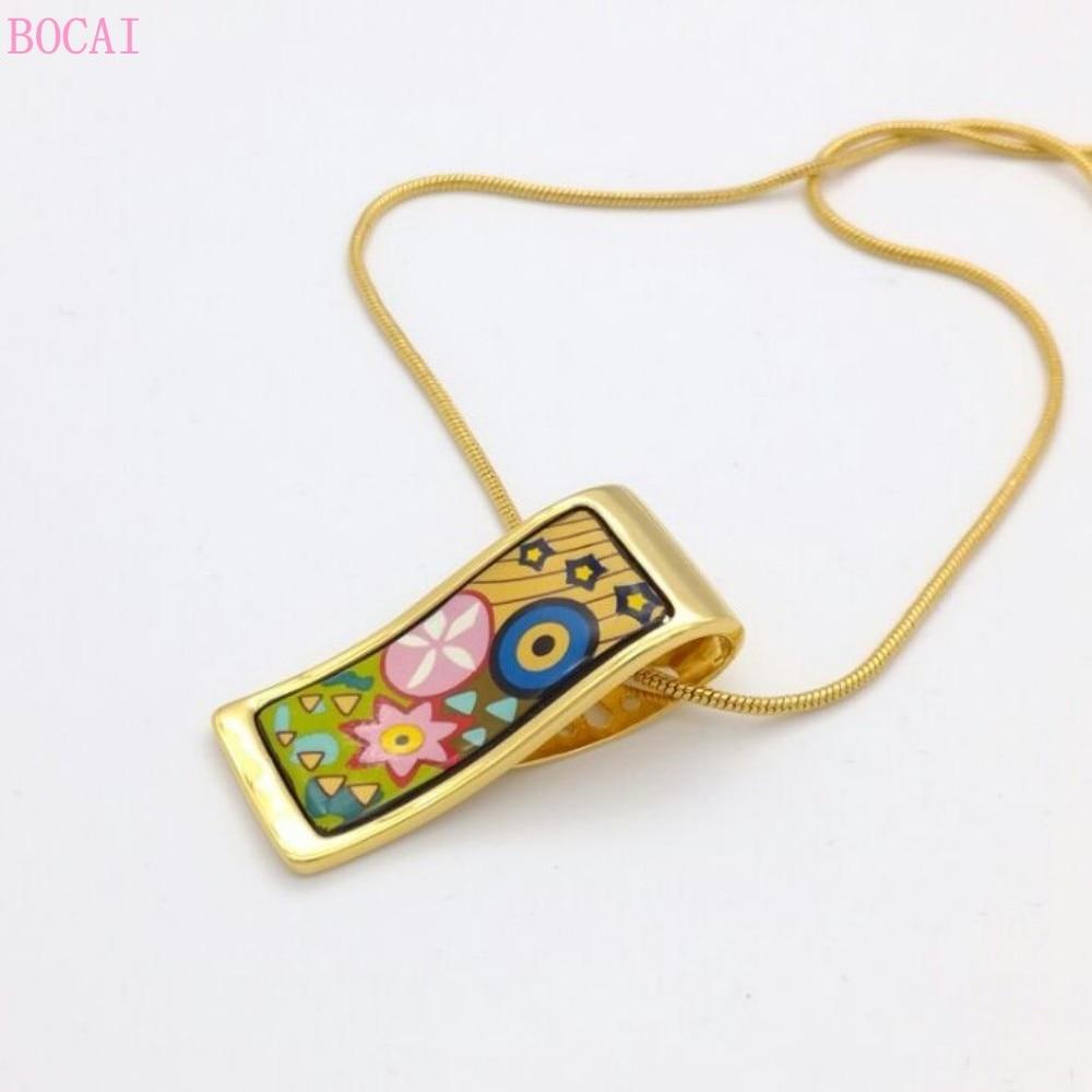moda joias alice estilo feminino cloisonne quadrado pingentes para mulher 02