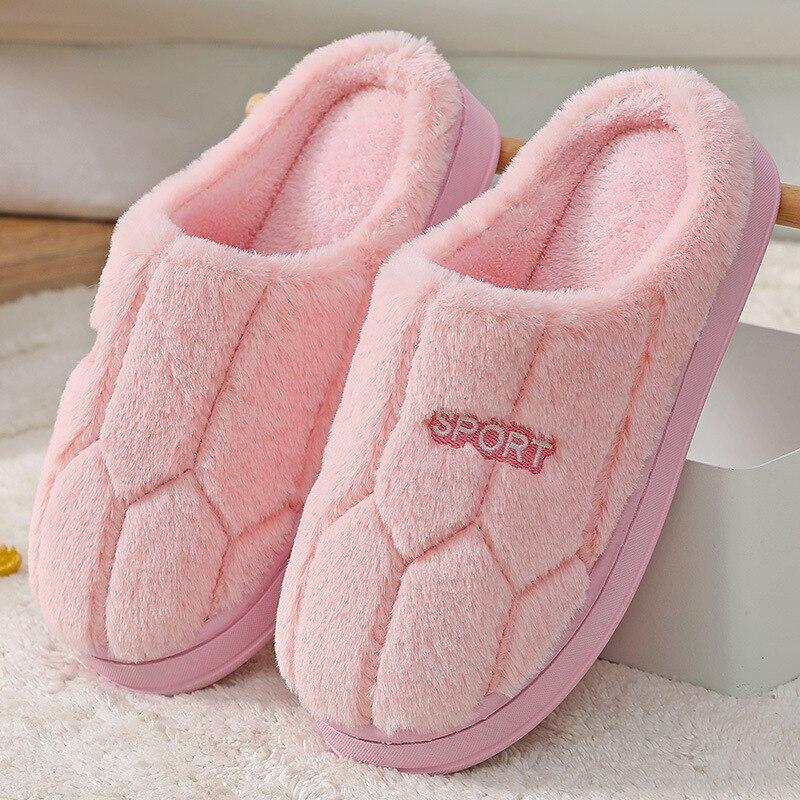 Зимние Модные женские и мужские домашние тапочки; Теплая обувь из искусственного меха; Женские слипоны на плоской подошве; Женские меховые Вьетнамки; Цвет розовый, красный; Домашняя меховая обувь| |   | АлиЭкспресс