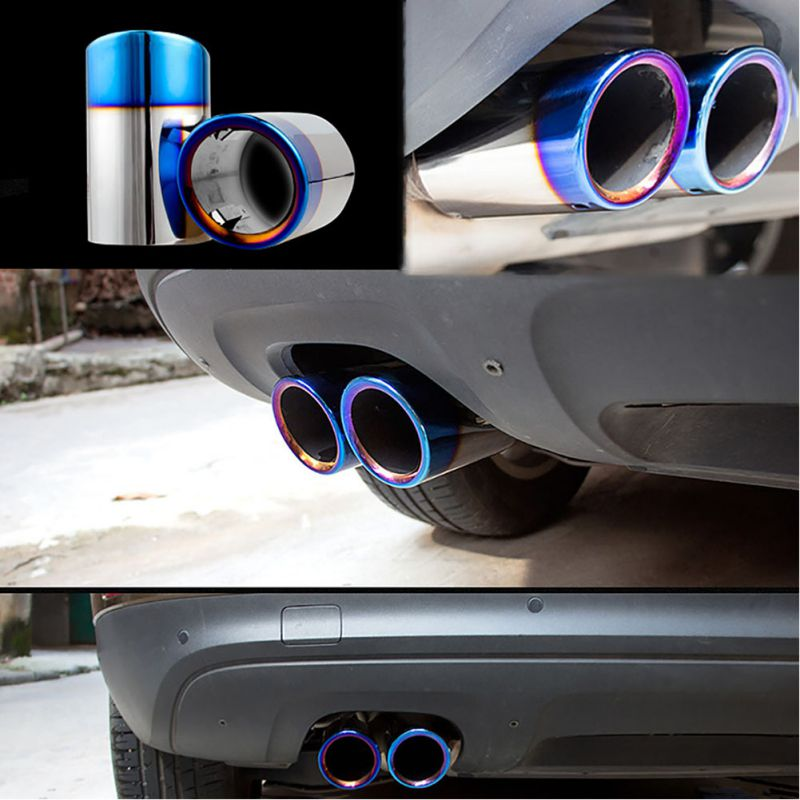 Exhaust-Pipe Muffler Auto-Accessories Stainless-Steel for Rear End-Tail Tip-Cover Hot-66-84mm