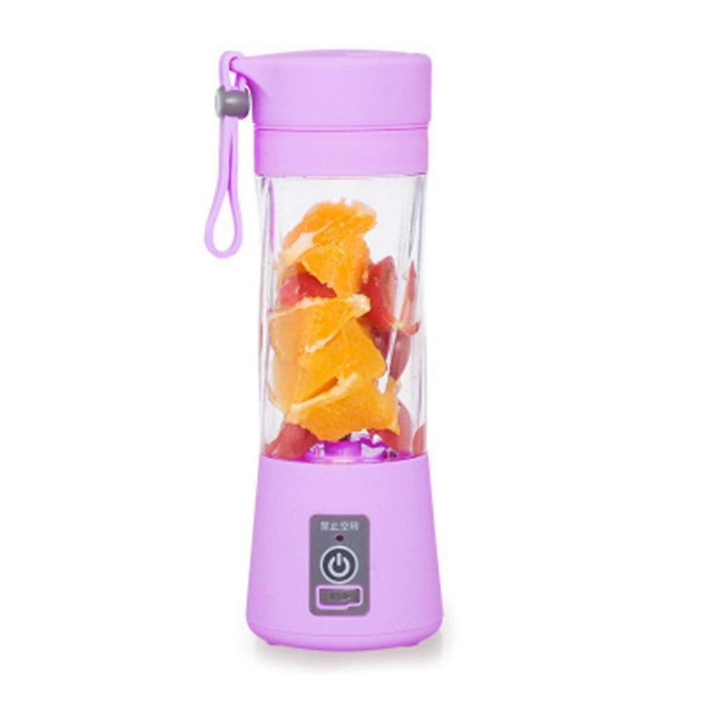 Portable Electric Fruit Juicer Machine Blender Smoothie Maker USB Rechargeable Multifunction Juicer Bottle 380ml