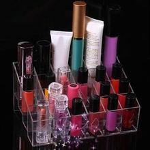 Makeup 24Compartments Lipstick Gloss Cosmetic Storage Display Stand Holder Rack Organizer Makeup Tools& Accessories