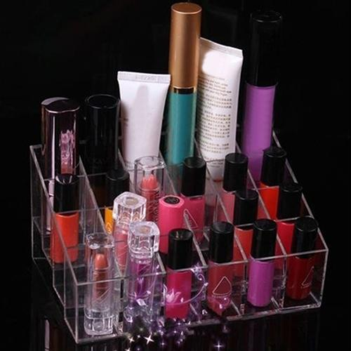 Makeup 24Compartments Lipstick Gloss Cosmetic Storage Display Stand Holder Rack Organizer Makeup Tools & Accessories