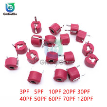10 шт./лот 6 мм Регулируемый набор различных конденсаторов 3pf 5pf 10pf 20pf 30pf 40pf 50pf 60pf 70pf 120pf триммер переменной постоянной ёмкости, универсальный конденсатор