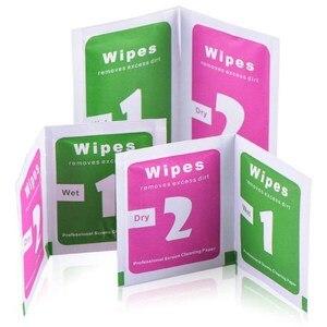 Image 4 - 740 Uds húmedo toallitas de limpieza secas paño toallitas de Alcohol para Protector de pantalla de vidrio templado de la Lente de la Cámara pantallas LCD eliminación de polvo toallitas