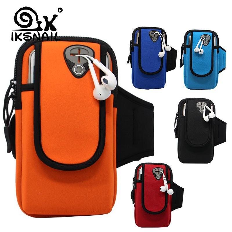 IKSNAIL Sports Running Armband Bag Case Cover Running Armband Waterproof Sport Mobile Phone Holder Outdoor Sport Phone Arm pou