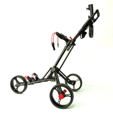 Folding Aluminum Alloy Golf Trolley Multifunctional Foldable Golf Pull Cart With Three Wheels Bottle Holder Umbrella Bracket