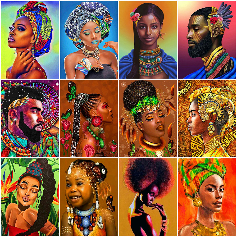 Canvas Painting African Woman Prints Art Wall Art Home Decor Poster Wall Picture
