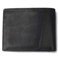 Men Short Stitching Style Wallet Black Color Cheap 100% Genuine Leather Wallet For Man Coin Purse Card Holder