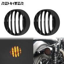 Motorcycle Black Achter Richtingaanwijzer Protector Indicator Grill Bezel Cover 2 Stuks Voor Harley Sportster 883 1200 Xl Ijzer 2016 Up