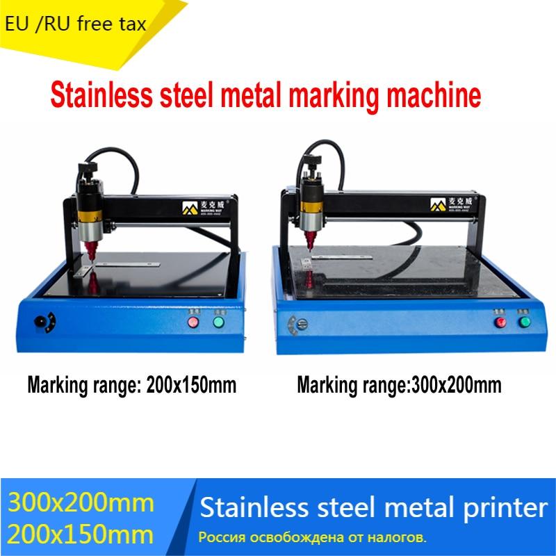 3020 Stainless steel metal printer nameplate cutting plotter code electric marking engraving machine 2015 coding machine