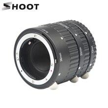 SCHIEßEN Auto Focus Macro Extension Tube Ring Set 12 20 36mm Adapter Ring für Nikon D5600 D5300 D7200 DSLR AF AF S DX G Kamera Objektiv