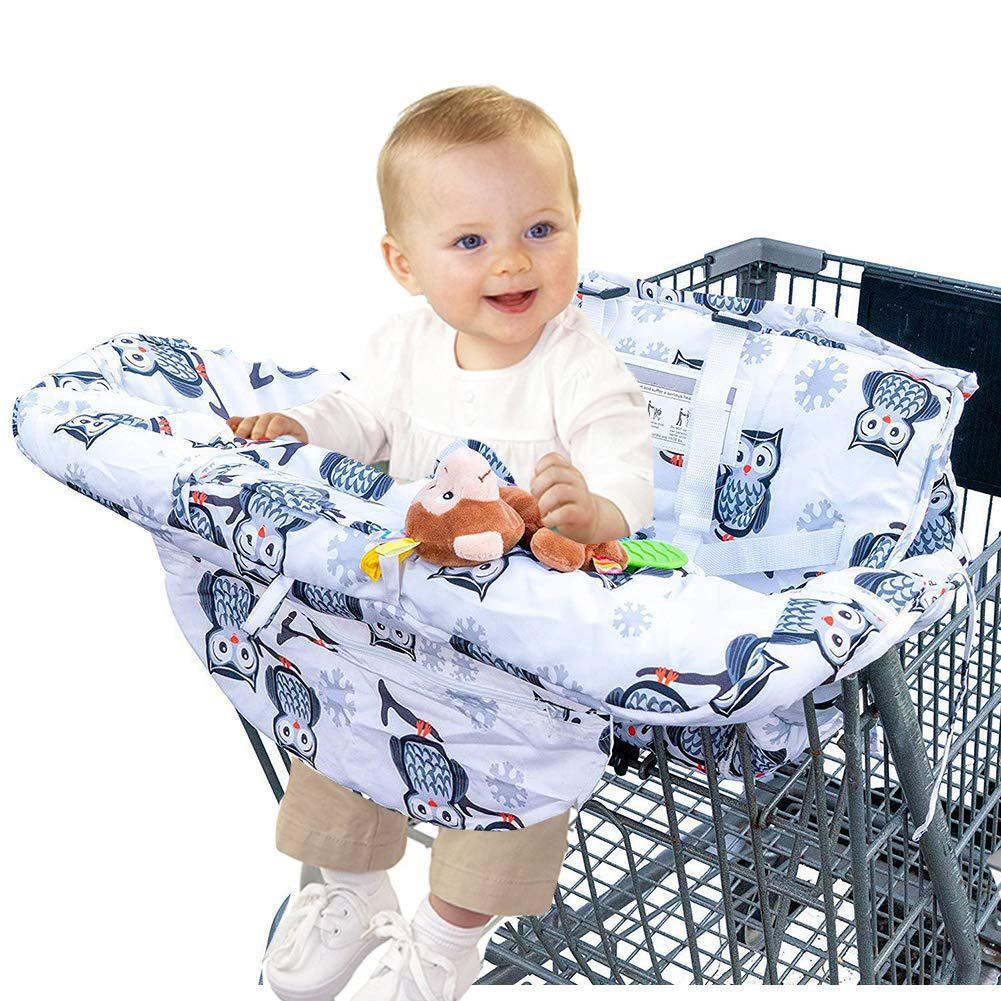 Baby Shopping Cart Cover Folding Cart Seat Cushion High Chair Pad For Kids And Toddlers