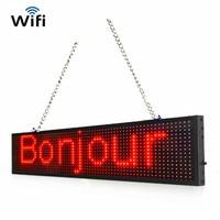 Promo 110V 220V P5 WIFI RGB 50CM programable Desplazamiento de mensaje de texto de la pantalla de
