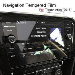 8 Cal dla Tiguan Atlas 2018 2019 szkło hartowane ekran nawigacji samochodowej Protector dotykowy wyświetlacz lcd folia ochronna      -