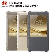 Huawei המקורי טלפון חכם מקרה להציג כיסוי Flip Case עבור Huawei Mate Mate8 8 דיור פונקצית שינה אינטליגנטית טלפון מקרה