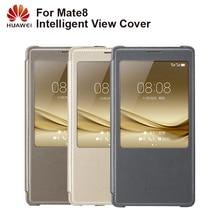 Huawei oryginalny inteligentny futerał na telefon widok pokrywy skrzynka dla Huawei Mate8 Mate 8 obudowa funkcja uśpienia inteligentny futerał na telefon