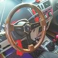 Универсальный гоночный руль из ПВХ, 350 мм, 14 дюймов, рулевое колесо из АБС-пластика, имитация дерева для Audi, BMW, Honda, Toyato