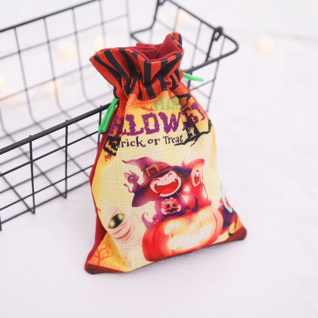 Halloween Candy Bag Cute Witch Doll Funny Gift Bags Holiday Supplies Creative Trick or Treat Bag Goodie Storage For Kids#p8
