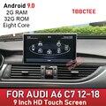 Android 9,0 8 Core 2 + 32GB Автомобильный мультимедийный плеер для Audi A6 C7 2012 ~ 2018 MMI 2G 3G RMC Авто GPS навигация Сенсорный экран