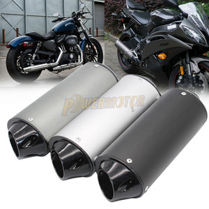 Universal MX Dirt Pit Bike Exhaust Muffler Silencer Protector Guard Replacement for CRF Motocross Motorcycle BLUE