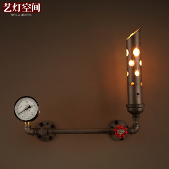 sgrow robot table lamp creative loft iron pipe lamp desk light for bedroom beside light cafe bar lampara de mesa water pipe lamp Industrial Age Black Loft Cafe Lamp Water Pipe Wall Light Art Wall Lamp for Dining Room Bar Decro Free Shipping Wall Mounted E27