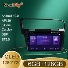 Nowy 6GB + 128GB Octa Core QLED 1280*720 Android 10 Radio samochodowe nawigacja odtwarzacz GPS dla Volkswagen Golf 7 2012 - 2020 nr 2 Din DVD