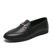 Обувь г. Новые стильные женские осенние и зимние кожаные туфли без застежки в английском стиле модные мокасины Ulzzang на плоской подошве